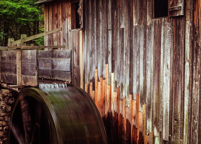 Mill Greeting Card featuring the photograph Smokies Mill by Andrew Soundarajan