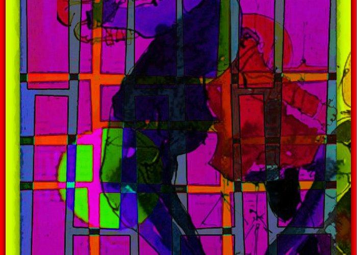 Smokin' As The Sun Goes Down Greeting Card featuring the digital art Smokin' As The Sun Goes Down by Tony Adamo