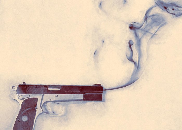 Scott Norris Photography Greeting Card featuring the photograph Smoking Gun by Scott Norris
