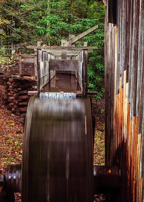 Mill Greeting Card featuring the photograph Smoky Mountain Mill by Andrew Soundarajan