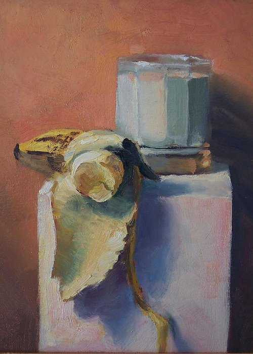 Oil On Masonite Greeting Card featuring the painting Snack Time by Michael Vires