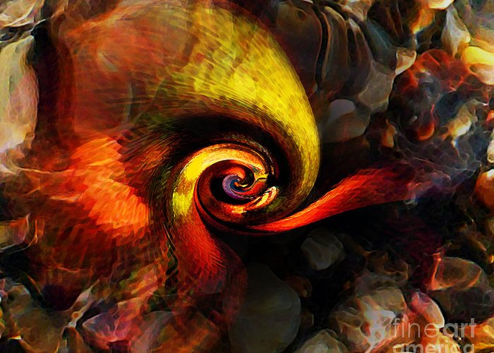 Abstract Greeting Card featuring the photograph Snail 2 by Terril Heilman