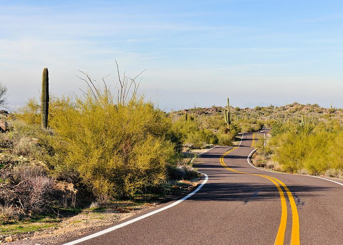 Arizona Greeting Card featuring the photograph Snake Road by Tom Dowd