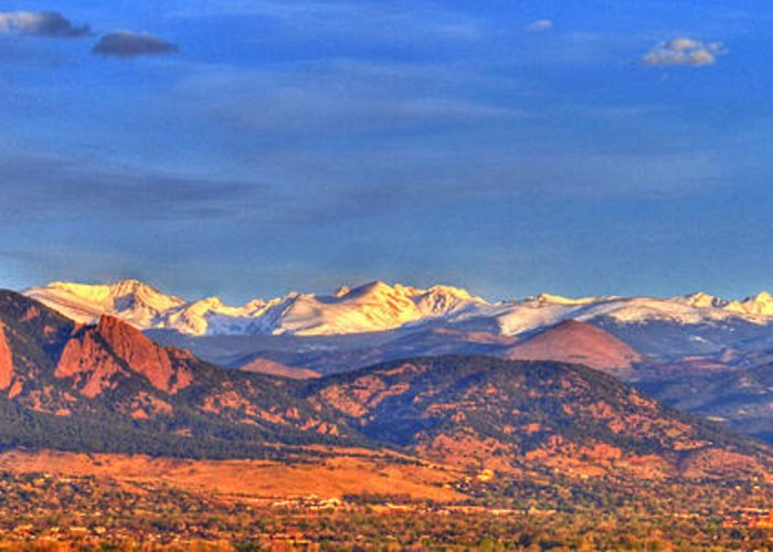 Colorado Greeting Card featuring the photograph Snow-capped Panorama Of The Rockies by Scott Mahon