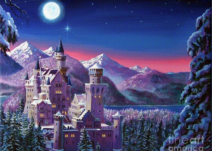 Castle Illustration Greeting Cards