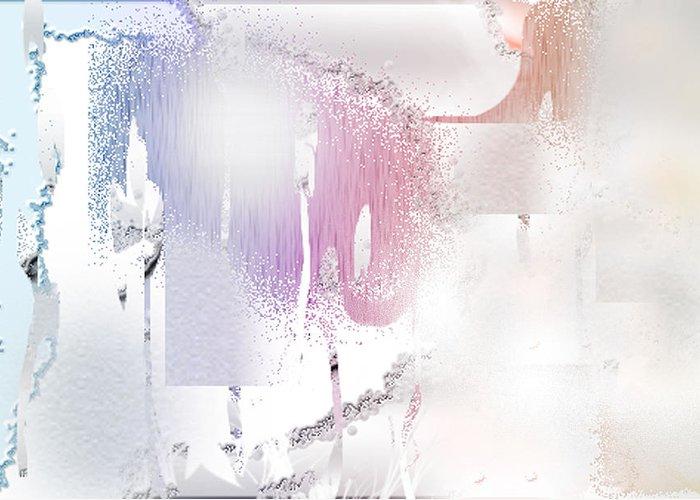 Davina Nicholas Greeting Card featuring the digital art Snow Dune by Davina Nicholas