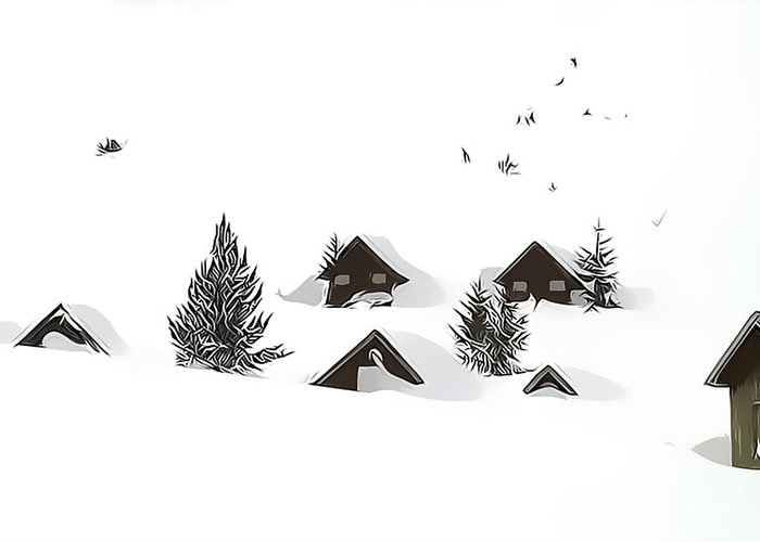 Snow Greeting Card featuring the photograph Snowed In by Gareth Davies