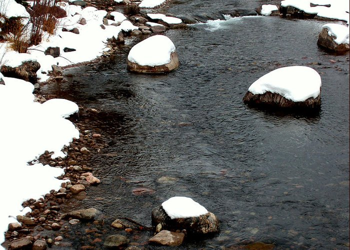 Snowy River Greeting Card featuring the photograph Snowy River by The Forests Edge Photography - Diane Sandoval