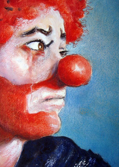 Clown Paintings Greeting Cards