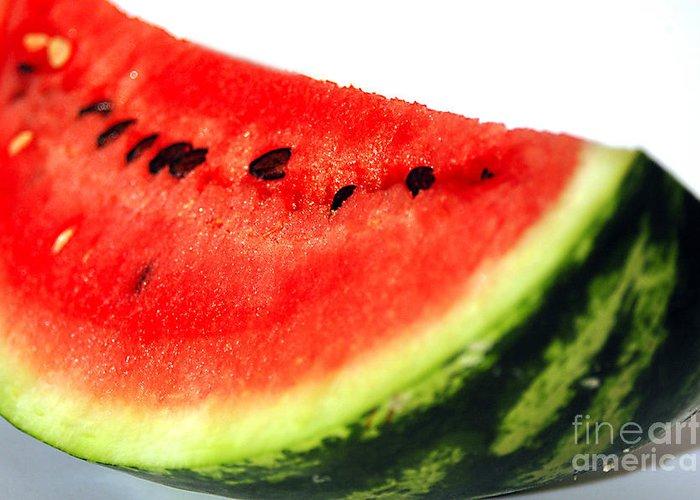 Watermelon Greeting Card featuring the photograph So Sweet by Deborah MacQuarrie-Haig