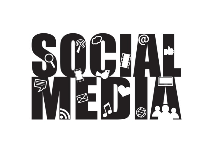 Social Media Text Outline With Symbols Greeting Card For Sale By Jit Lim