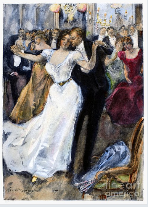 1900 Greeting Card featuring the photograph Society Ball, C1900 by Granger