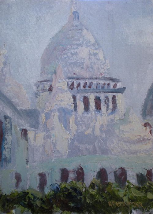 Paris Greeting Card featuring the painting Socrecoeur by Bryan Alexander