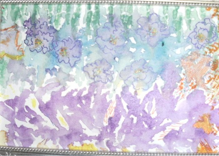 Soft Greeting Card featuring the painting Soft And Pretty by Anne-Elizabeth Whiteway