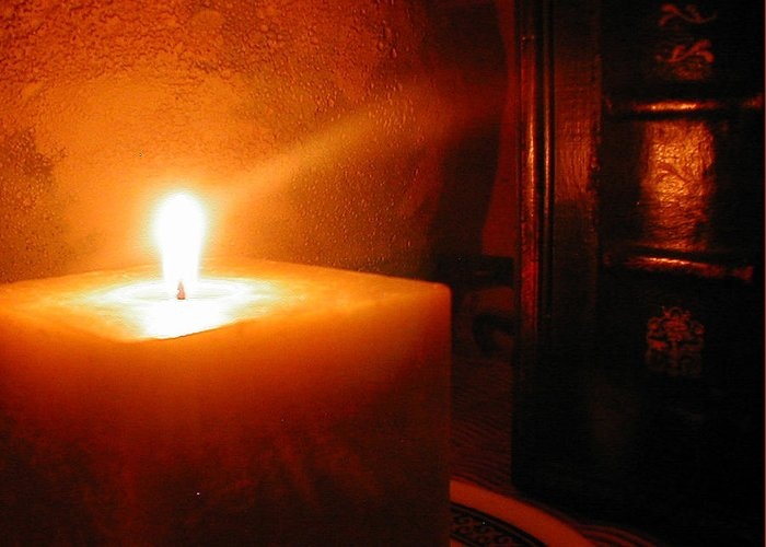 Candle Greeting Card featuring the photograph Soft Glow by Dianne Patten