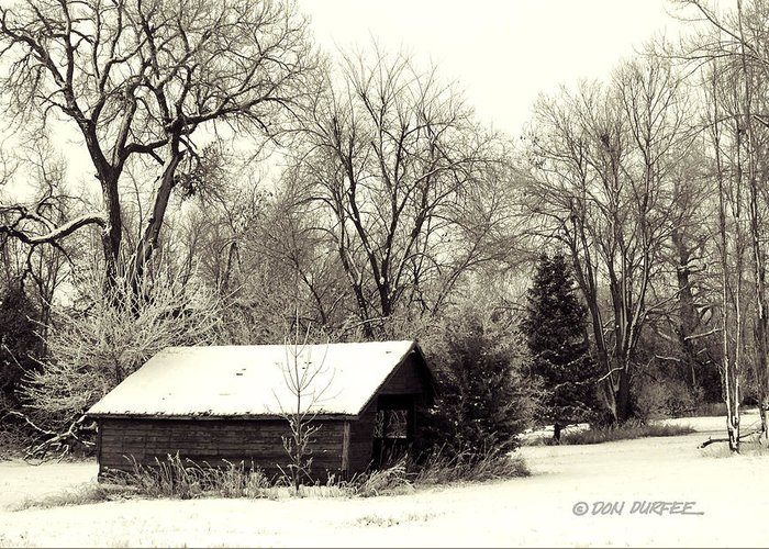 Landscape Greeting Card featuring the photograph Soft Snow Cover by Don Durfee