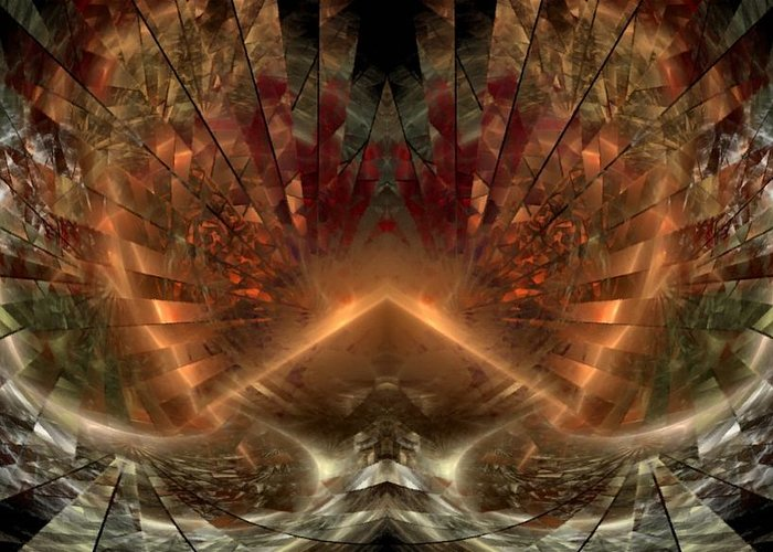 Sun Greeting Card featuring the digital art Sol Invictus by NirvanaBlues