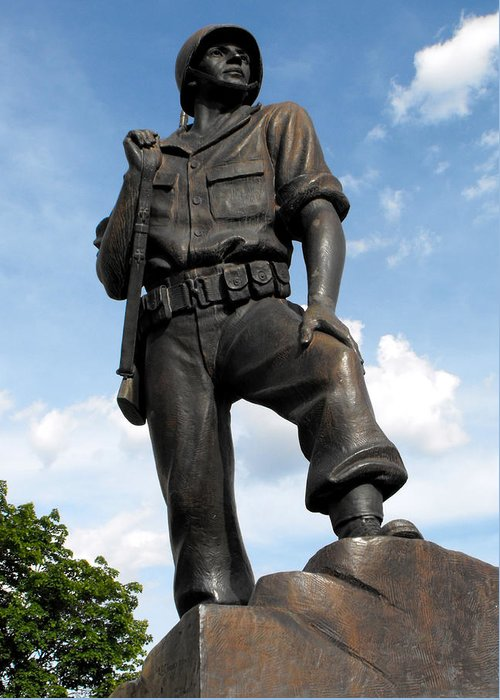 Statue Greeting Card featuring the photograph Soldier by Jan Tribe