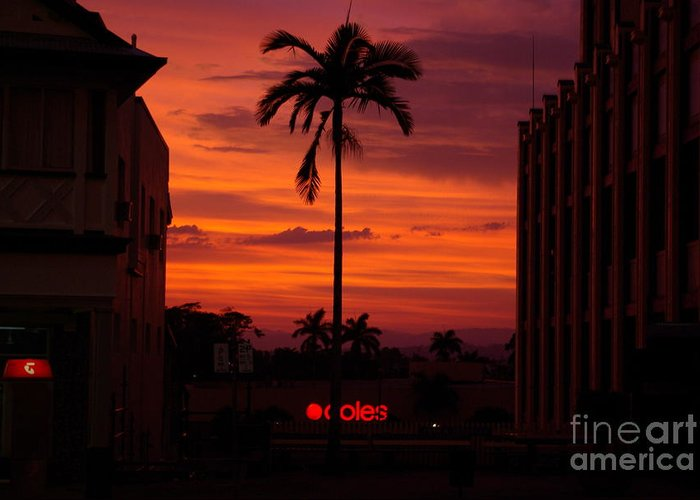 Innisfail Greeting Card featuring the photograph Solitary Passage by Kerryn Madsen- Pietsch
