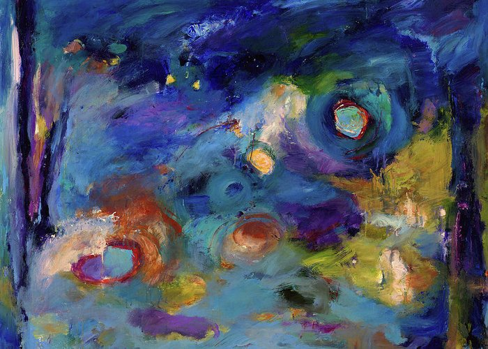 Abstract Art Greeting Card featuring the painting Solitude Of Dreams by Johnathan Harris