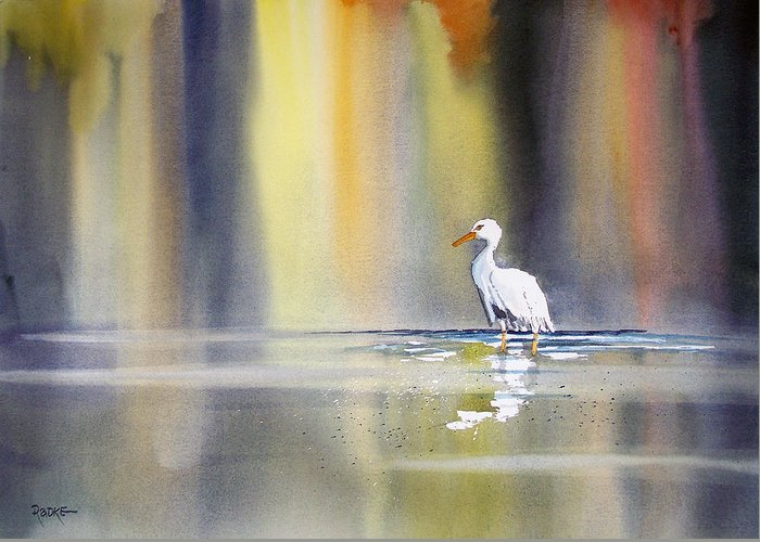 Watercolor Greeting Card featuring the painting Solitude by Ryan Radke