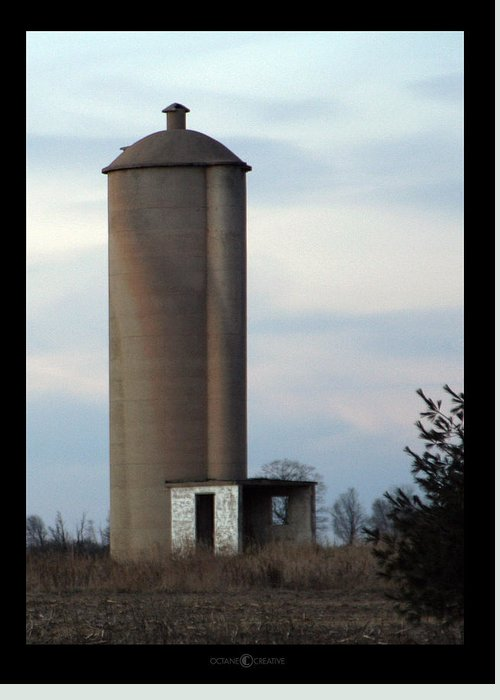 Silo Greeting Card featuring the photograph Solo Silo by Tim Nyberg