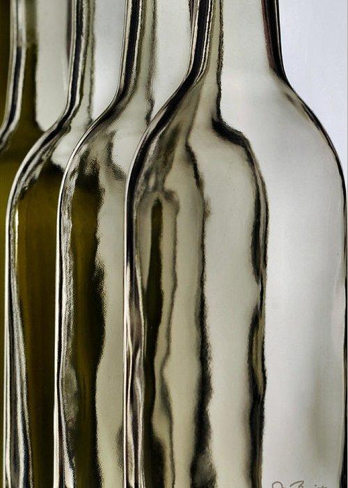 Bottle Greeting Card featuring the photograph Somber Bottles by Joe Bonita