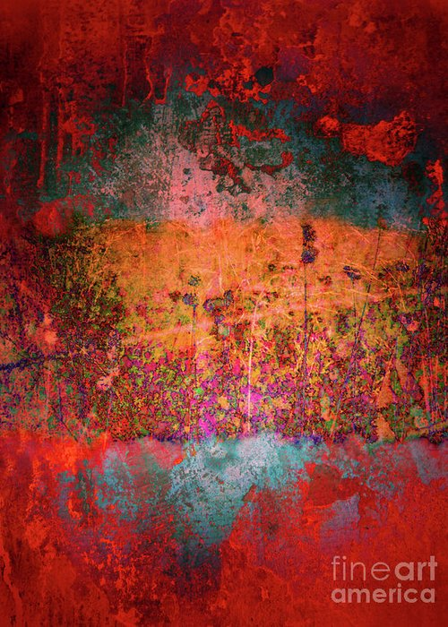 Texture Greeting Card featuring the digital art Sometime In The Beginning by Tara Turner