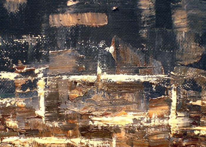 Abstract Greeting Card featuring the painting Somewhere Along The Way by Angelina Cornidez