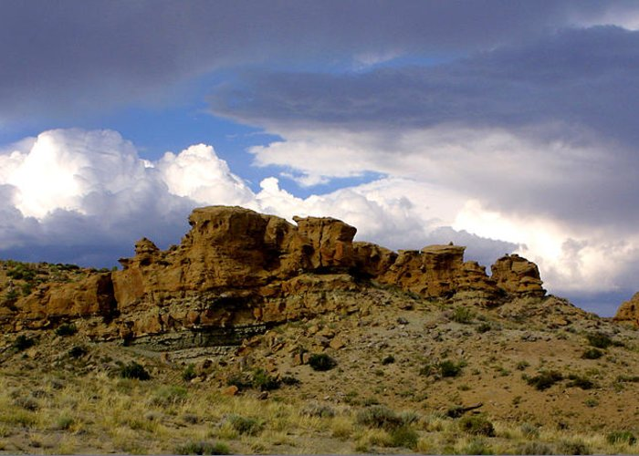 West Greeting Card featuring the photograph Somewhere Out West by Ralph Perdomo