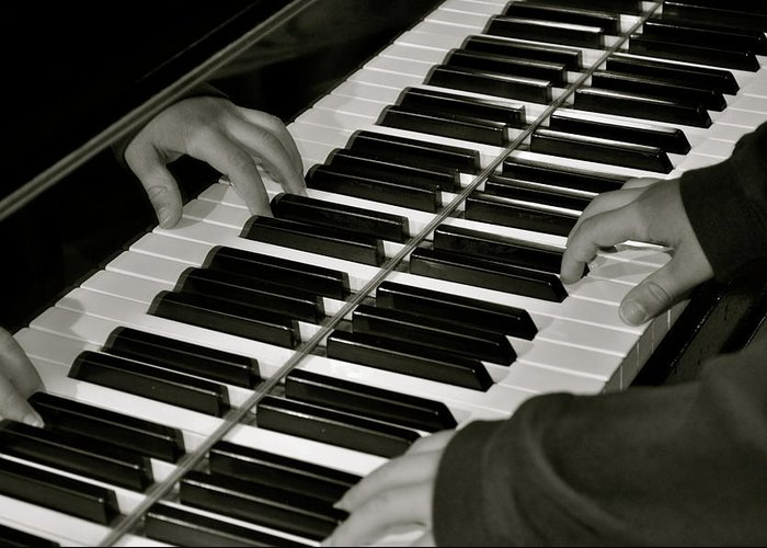 Piano Greeting Card featuring the photograph Soothing The Soul by Laura Ogrodnik