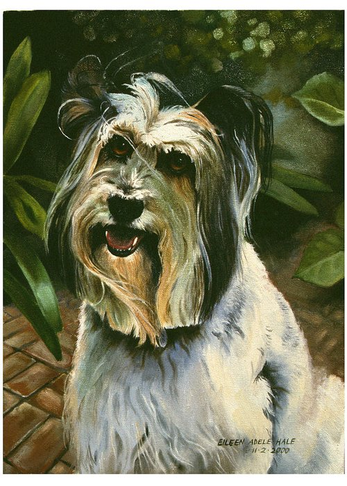 Portrait Greeting Card featuring the painting Sophie by Eileen Hale