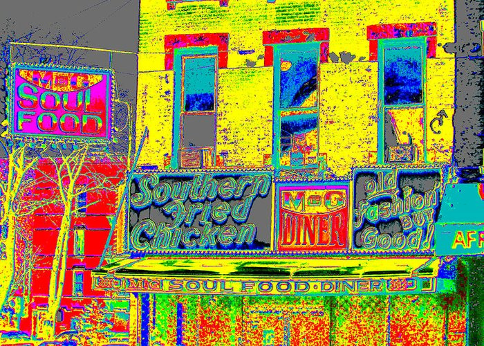 Harlem Greeting Card featuring the photograph Soul Food by Steven Huszar