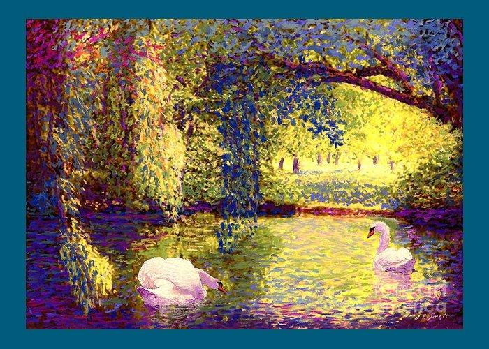 White River Scene Greeting Cards