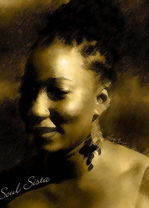 Portrait Greeting Card featuring the photograph Soul Sista by LeeAnn Alexander