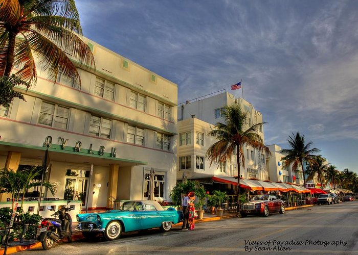 Florida Greeting Card featuring the photograph South Beach Park Central Hotel by Sean Allen