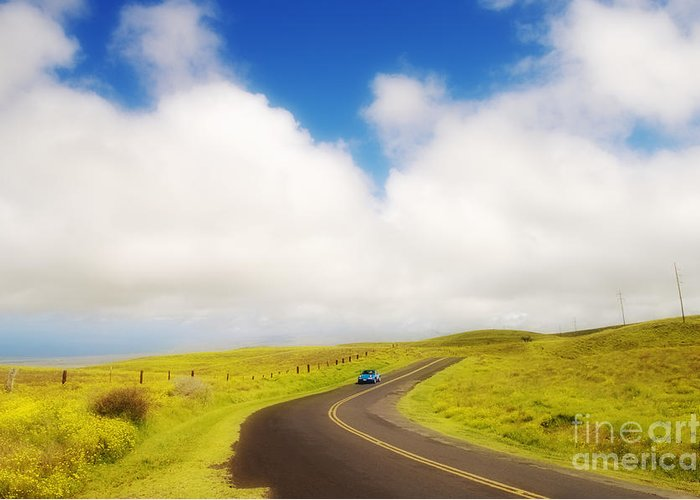Afternoon Greeting Card featuring the photograph South Kohala by Greg Vaughn - Printscapes