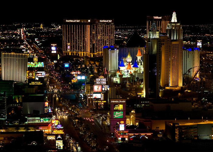 Nevada Greeting Card featuring the photograph South Las Vegas Strip by James Marvin Phelps
