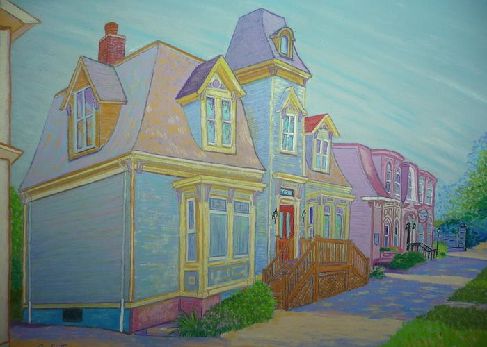 Pastels Greeting Card featuring the pastel South Park Street by Rae Smith PSC