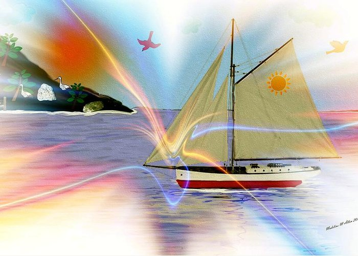 Smudgeart Greeting Card featuring the digital art South Winds by Madeline Allen - SmudgeArt
