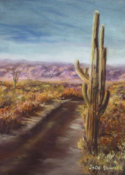 Desert Greeting Card featuring the painting Southern Arizona by Jack Skinner