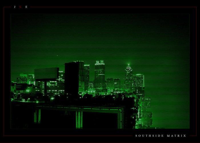 Atlanta Greeting Card featuring the photograph Southside Matrix by Jonathan Ellis Keys