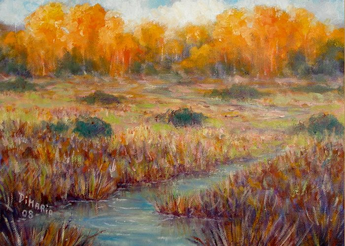 Realism Greeting Card featuring the painting Southwest Autumn by Donelli DiMaria