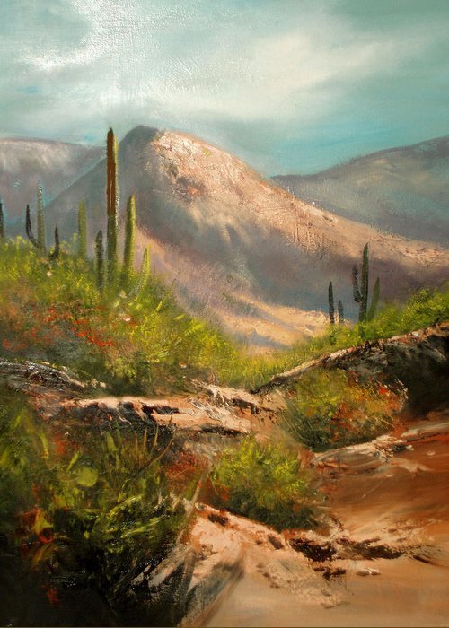 Landscape Greeting Card featuring the painting Southwest Beauty by Robert Carver