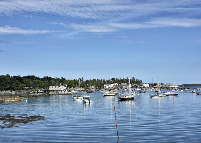 southwest Harbor Greeting Card featuring the photograph Southwest Harbor - Mount Desert Island - Maine by Brendan Reals