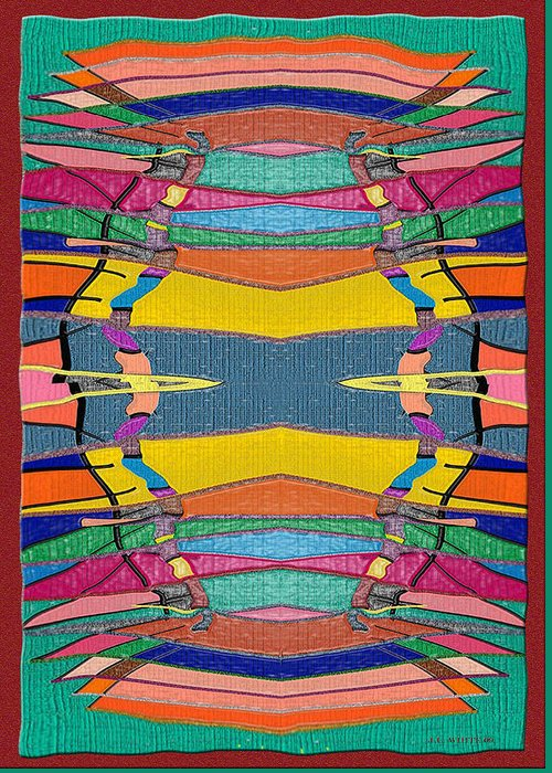 Multicolor Rug Greeting Card featuring the digital art Southwestern Rug by Jerry White