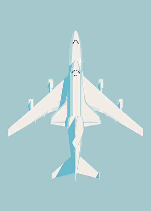 Poster Greeting Card featuring the digital art Space Shuttle And 747 Transport Jet - Sky by Ivan Krpan