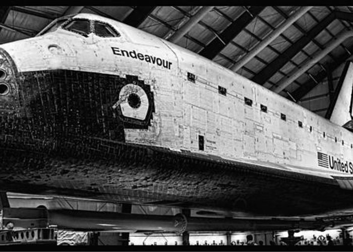 Aviation Greeting Card featuring the photograph Space Shuttle Endeavour 2 by Tommy Anderson