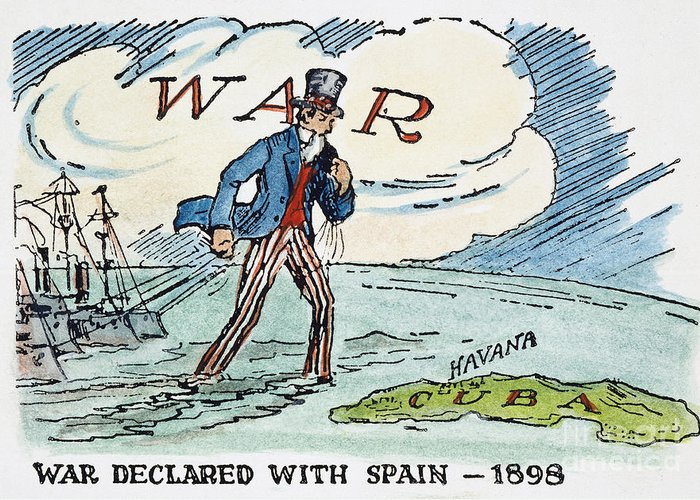 1898 Greeting Card featuring the photograph Spanish-american War, 1898 by Granger