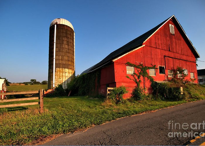 Barn Greeting Card featuring the photograph Sparta Barn by Valerie Morrison